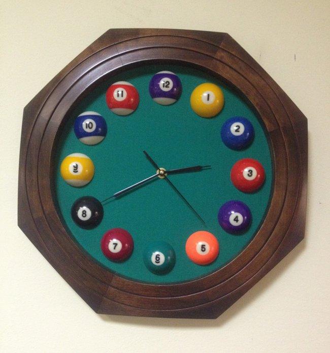 Часы Бильярд