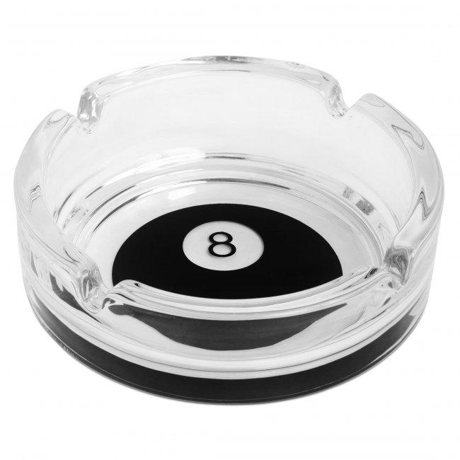 Пепельница Бильярдный шар №8 стекло ø106мм