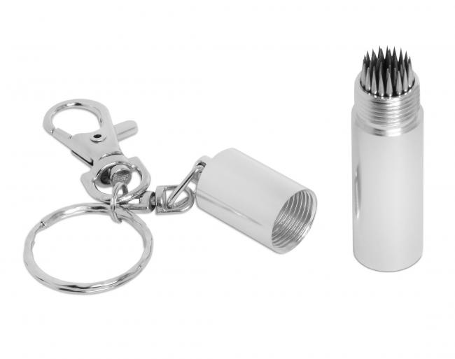 Брелок-инструмент для перфорации наклейки Tip-Pik Silver